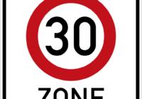 Tempo 30 Zone Schild